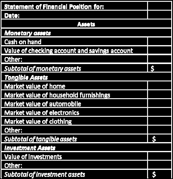 Statement Of Financial Position Pdf Free Download