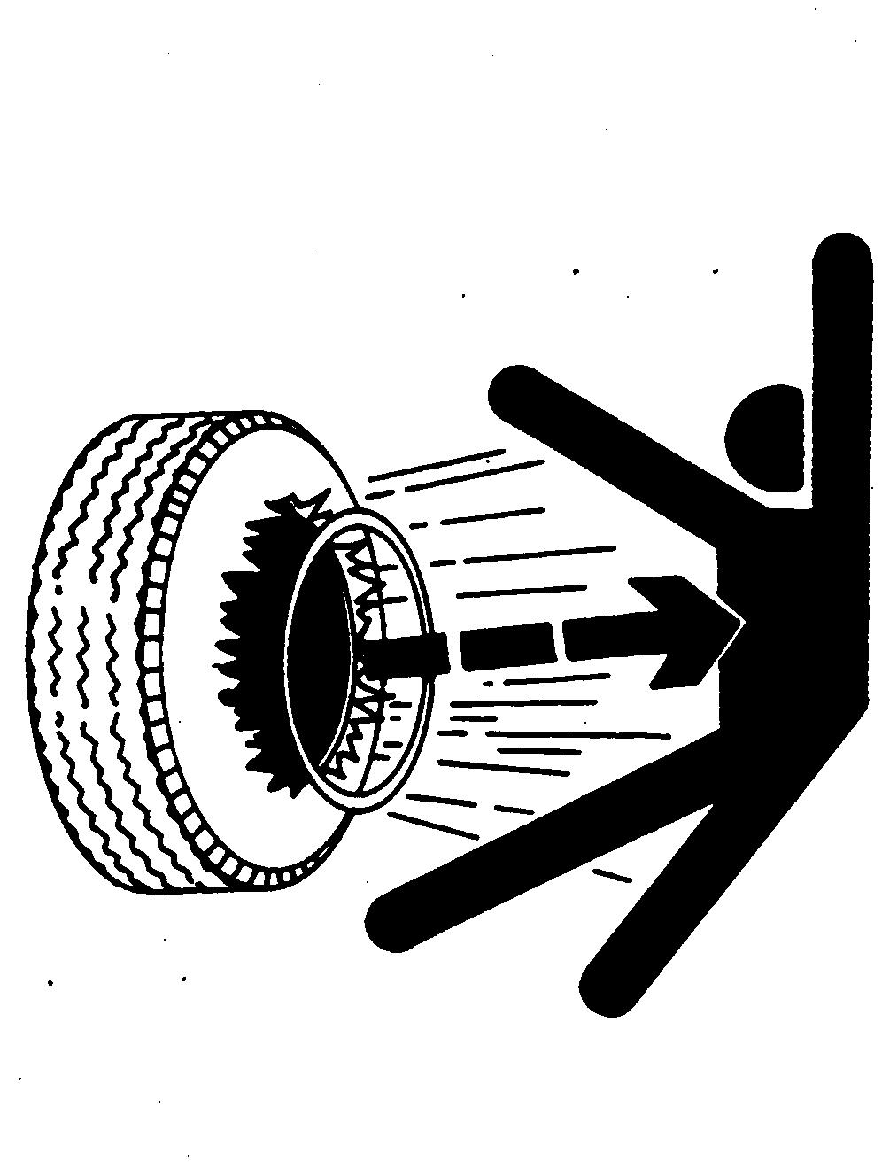 Safety maintenance precautions service tires safely explosive separation of a tire and rim parts can