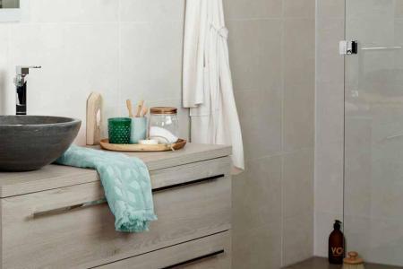 Beste Woonkamer ideen » badkamer zandkleur | Woonkamer ideen