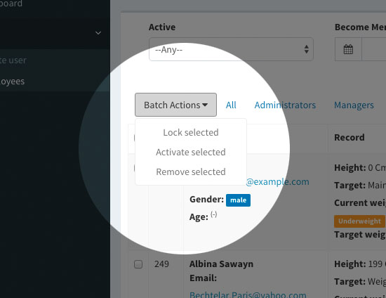 Admin Architect - Batch actions