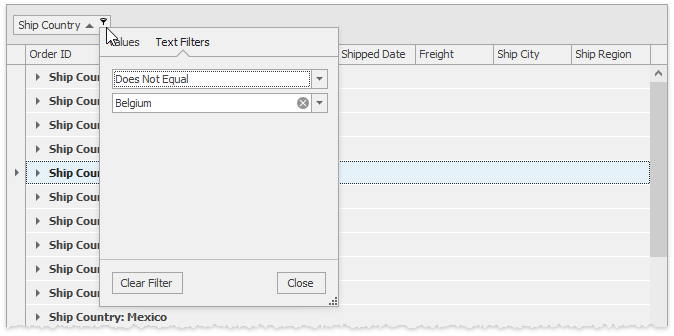 Grid - Filtering by grouped column
