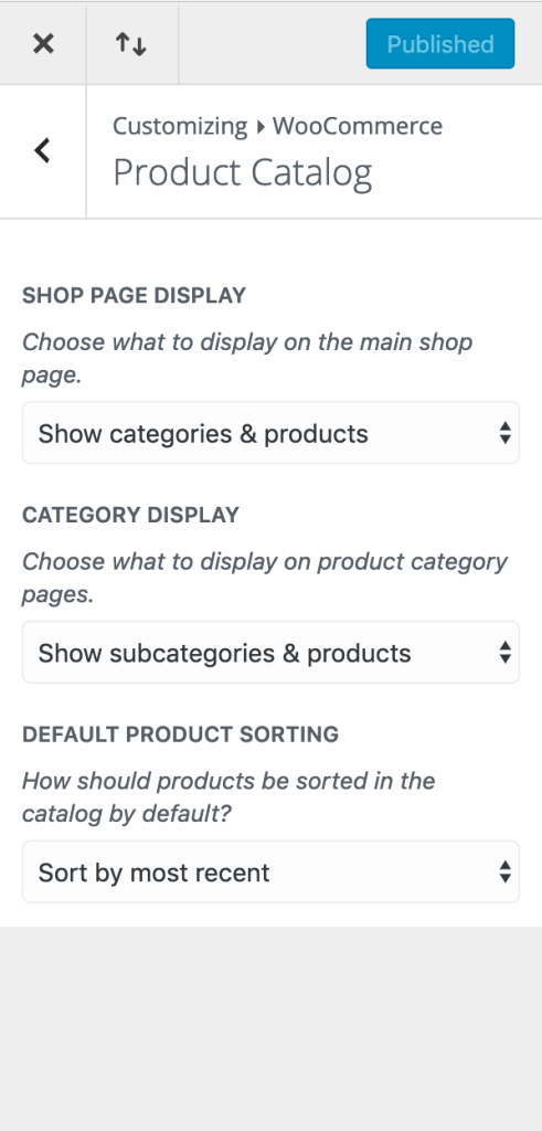 What to display on archive pages.