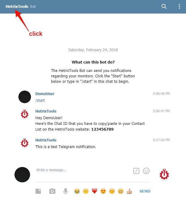 Telegram Integration – HetrixTools