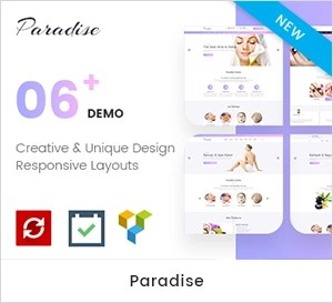 Paradise - Multiple Spa & Beauty WordPress Theme