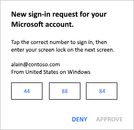 Approve sign-in box on device