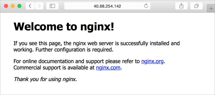NGINX default site