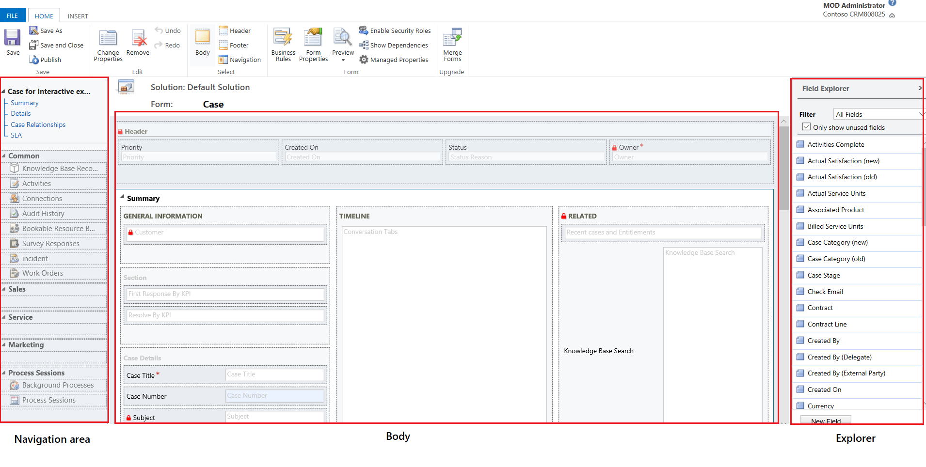 Overview Of The Form Editor User Interface