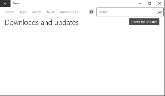 Microsoft Store app showing access to My Library