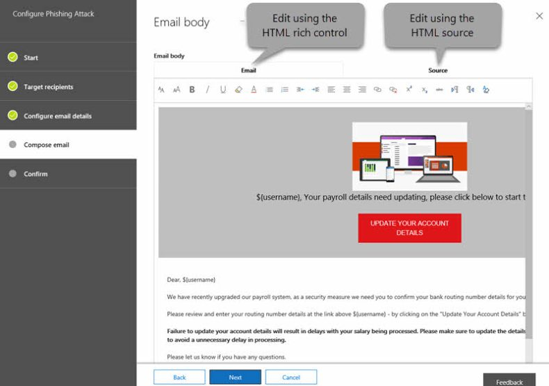 Compose Email Body