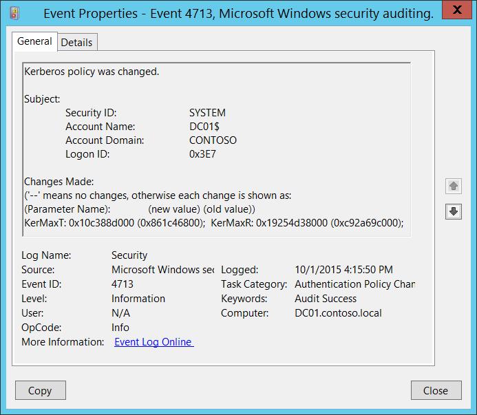 Event Id 6 Security Kerberos