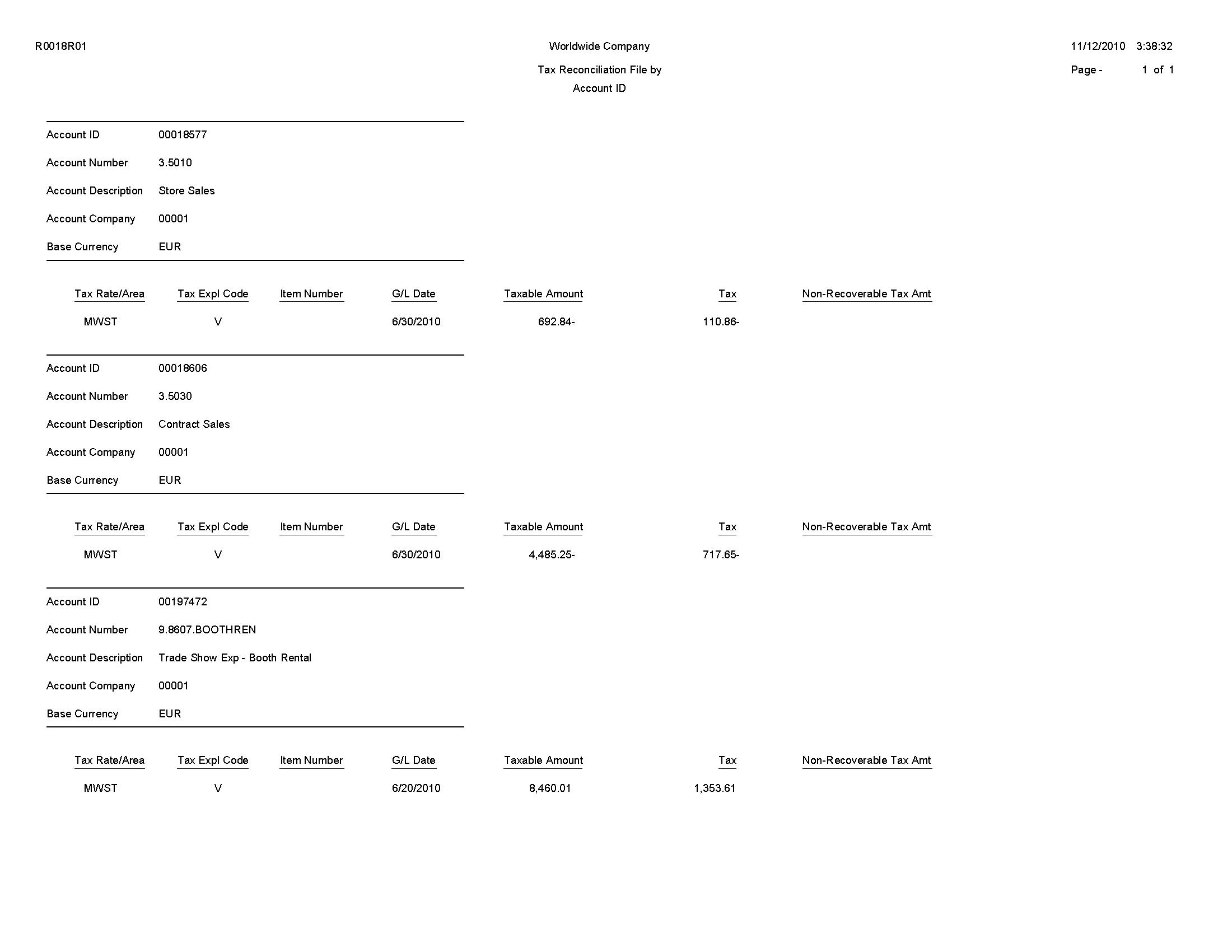 Jd Edwards Enterpriseone System Reports
