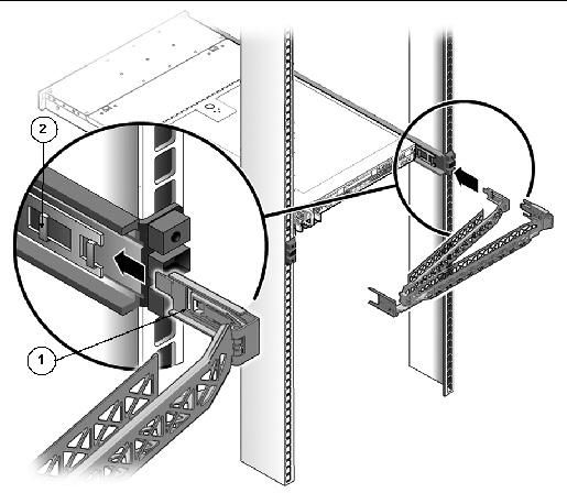 server into a rack with slide rails