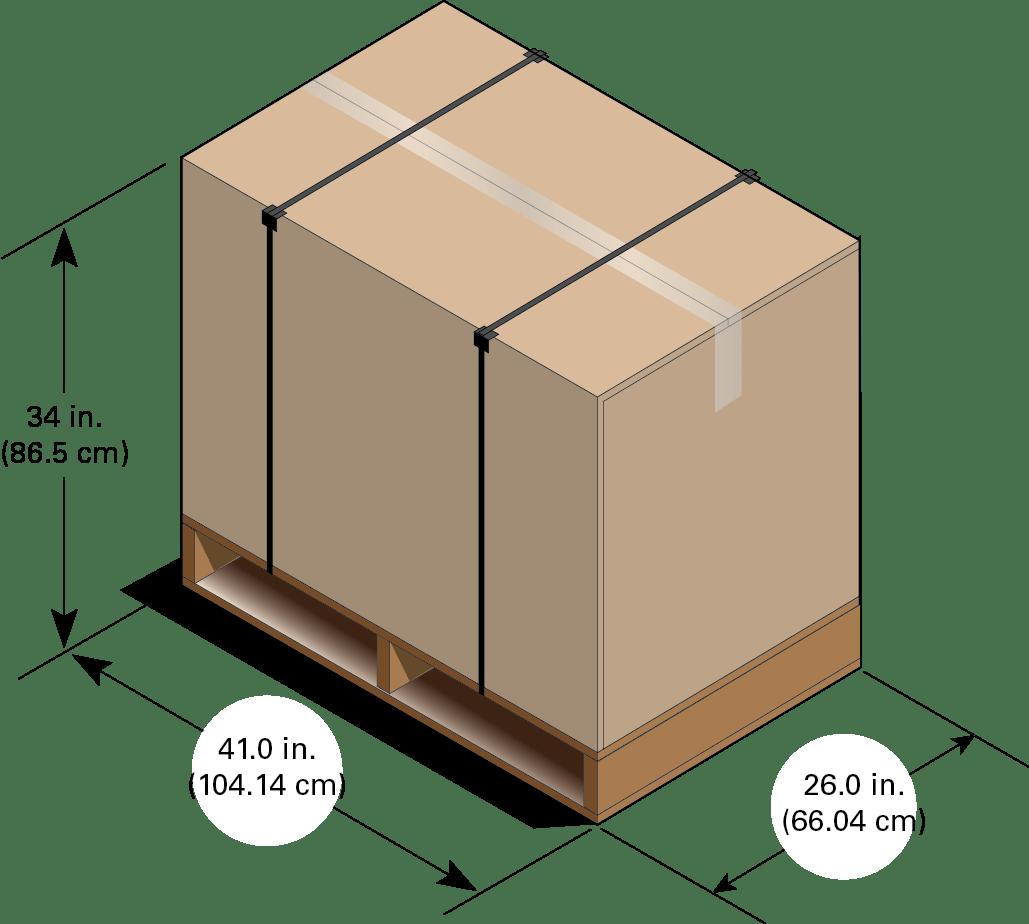 dimensions du carton de transport des