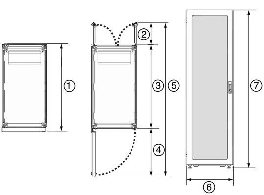 oracle rack cabinet 1242 dimensions