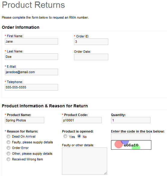 Merchandise Return Form Template  2012 form mo midway form