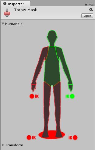 Définition d'un masque d'avatar à l'aide de la méthode de sélection du corps humanoïde