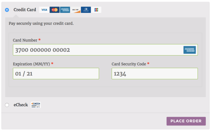 Test Credit Card Numbers With Cvv Authorize Net | Gemescool org