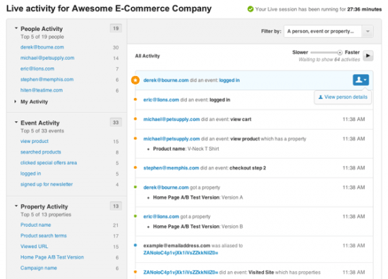 WooCommerce KissMetrics Live Screenshot