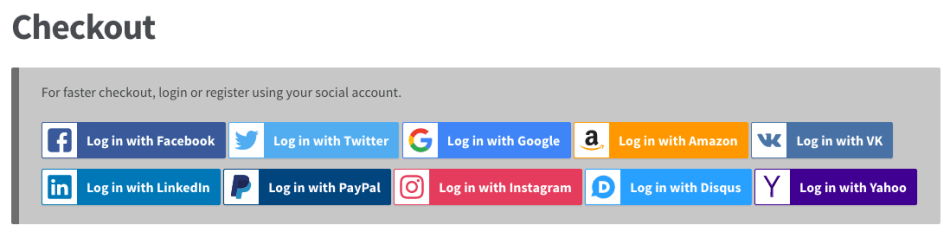 WooCommerce Social Login: Checkout Notice