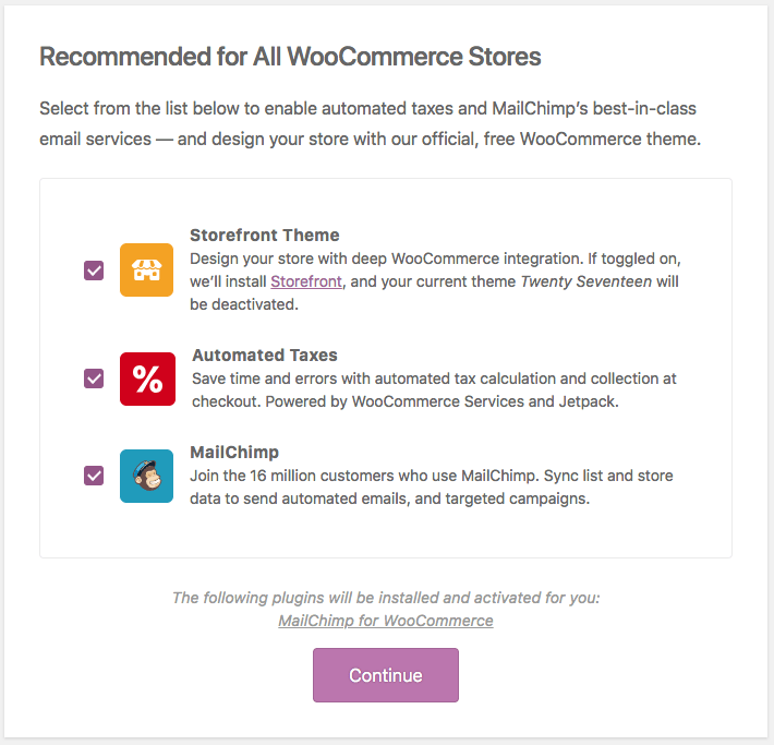 You can choose to install WooCommerce's default theme, Storefront