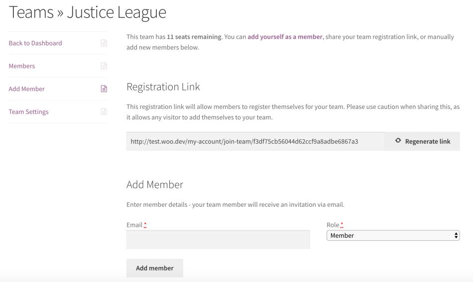 Teams for WooCommerce Memberships: add members