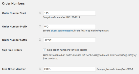 WooCommerce sequential order numbers pro settings