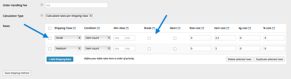 Table Rate Merging Shipping Example 4