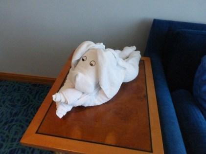 Housekeeping towel sculpture