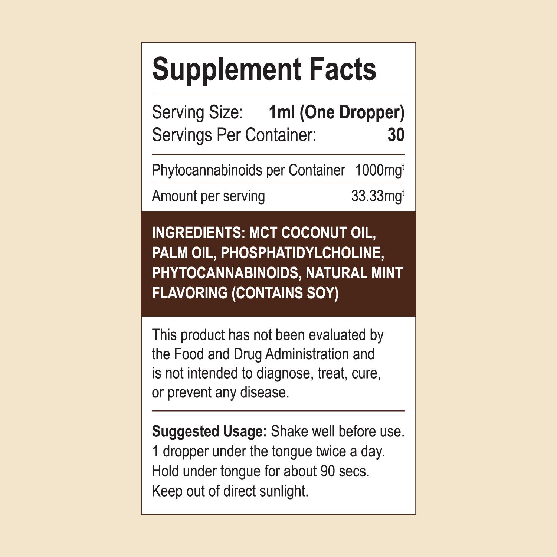 CBD Oil Ingredient List