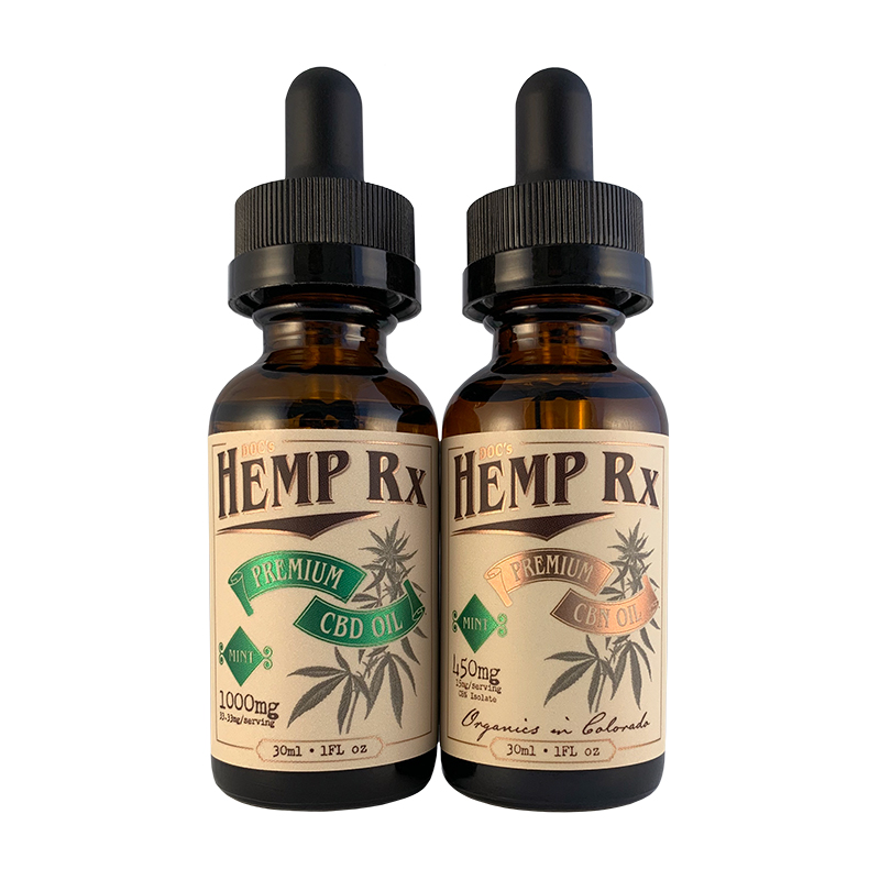 Docs Hemp CBD & CBN Tincture side by side
