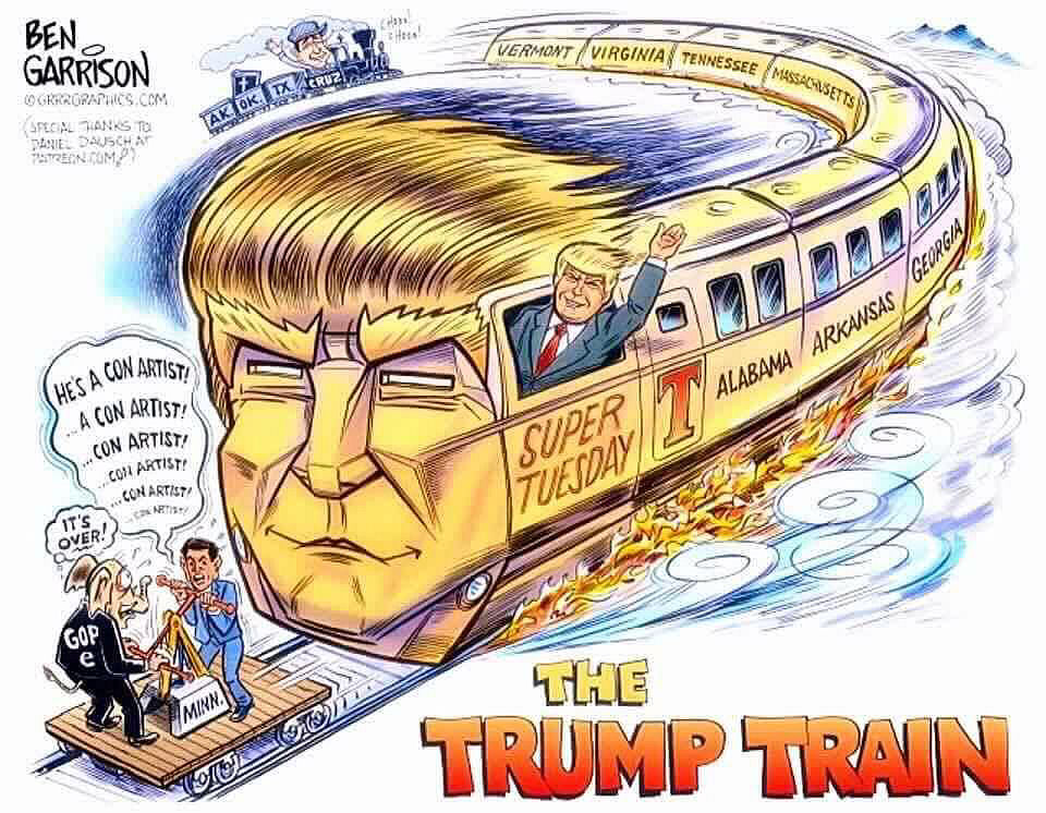 Get Onboard The Trump Train 2020 Or Get Run Over