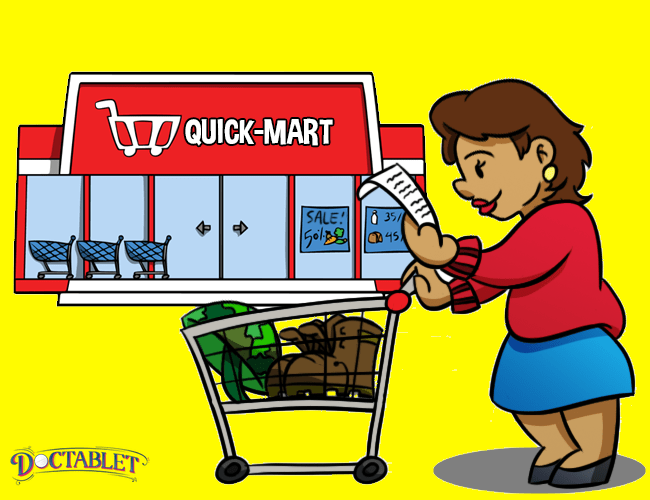 Your grocery list will help you to stay on track and budget.