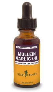 Herb Pharm Mullein Garlic Herbal Oil, Best Ear Drops for Pain