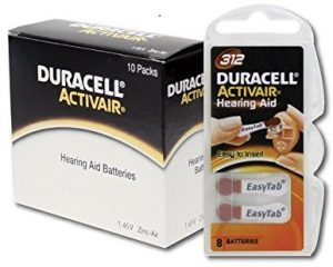Duracell Hearing Aid Batteries Size 312