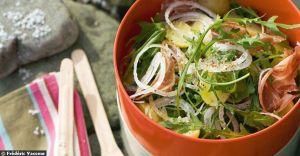 Salades d'etes - Recette de salade pommes de terre et lard fume