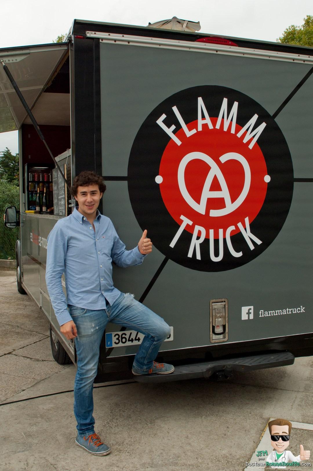 Arthur Riehl, co-fondateur du foodtruck FLAMMATRUCK