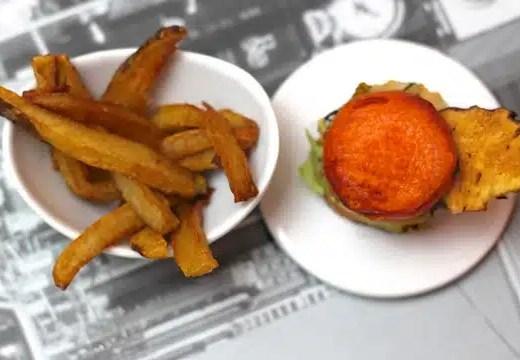 Recette du Hamburger revisite aux patates douces et au topinambour