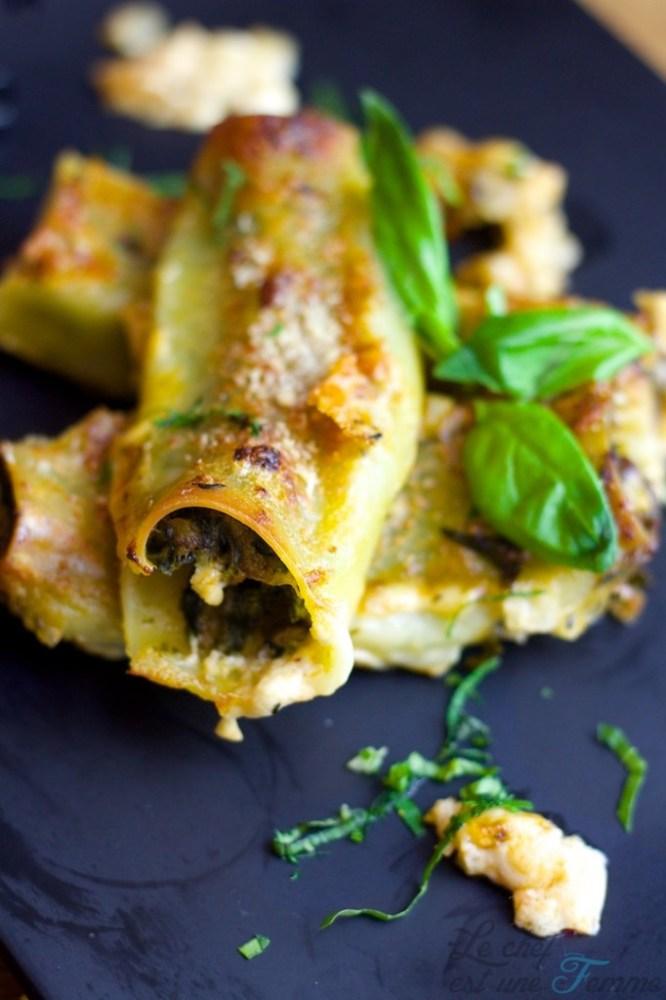 recette cannelloni épinards