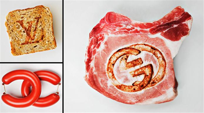 Quand les aliments du quotidien se transforment en logos emblematiques