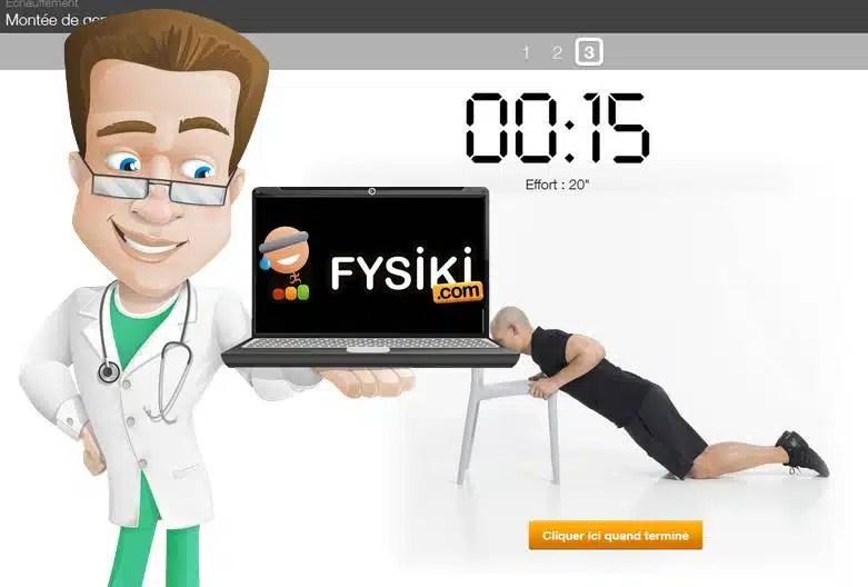 Fysiki Le premier coach sportif en ligne