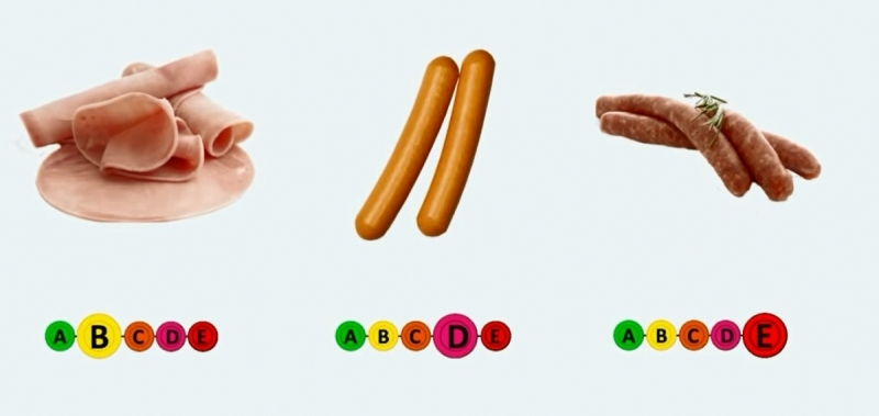 étiquetage nutriionnels à 5 couleurs