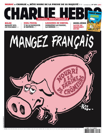 Charlie Hebdo - Dessin satirique Made in france et chomage