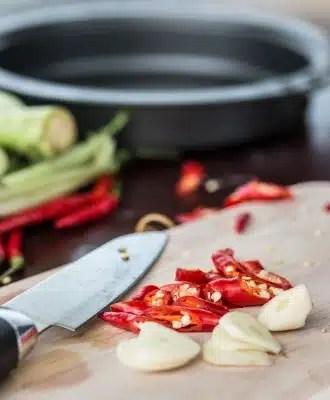 cuisiner sainement épices ail poivrons