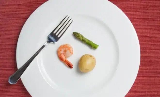 Assiette régime santé dénutrition
