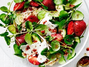 Salade fraise quinoa