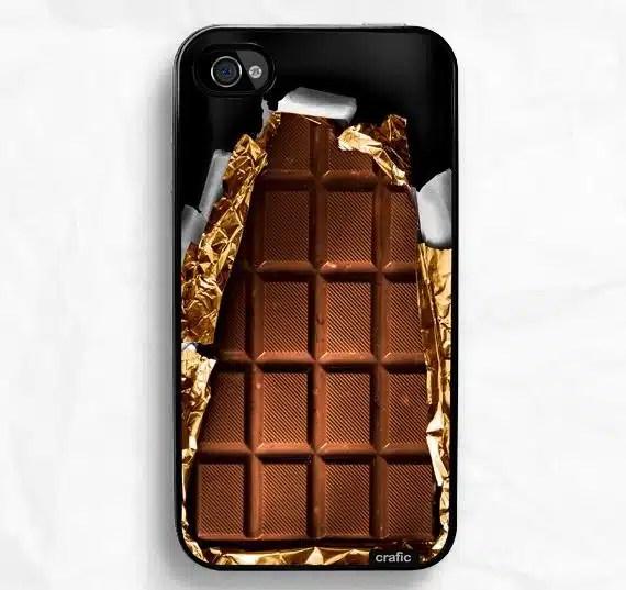 coque smartphone chocolat