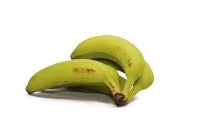 Bananes pas mûres