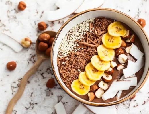 Smoothie bowl recette chocolat noisettes