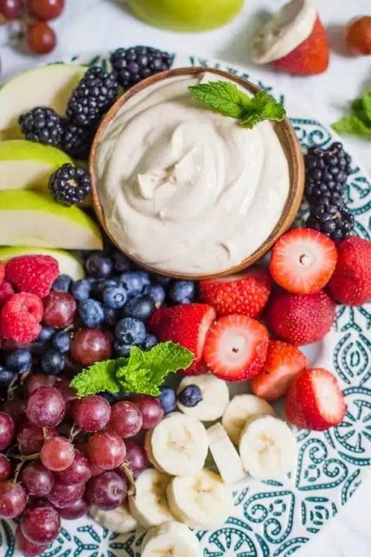 Dips de fruits à grignoter