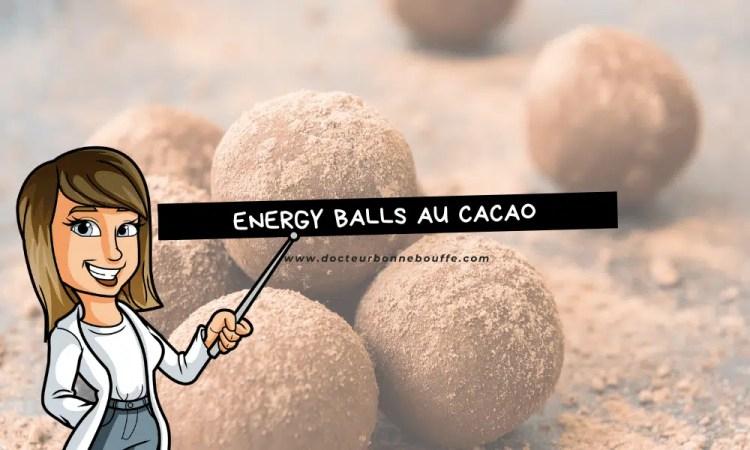 energy balls au cacao recette